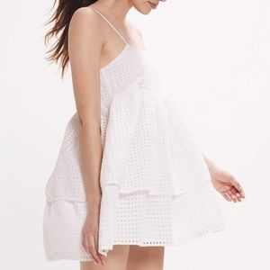 Urban Outfitters Eyelet Mini Dress